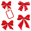 Vector clipart: Set of red bows