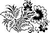 Vector clipart: Russian traditional Hohloma ornament