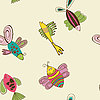 Colorful pattern fish backdrop