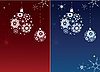 Vector clipart: Two Christmas backgrounds