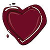 Vector clipart: Red heart
