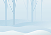 Winter forest landscape | Stock Vector Graphics