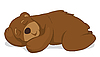 Vector clipart: Sleeping bear