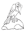 Векторный клипарт: Ворона