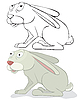 Vector clipart: hare