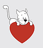 Vector clipart: Cat. Valentine`s Day