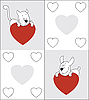 Vector clipart: Cat and dog. Valentine's Day