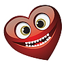 Vector clipart: Smiling heart