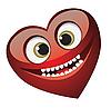 Векторный клипарт: Сердечко улыбается
