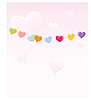 Vector clipart: Hearts on rope