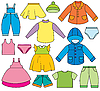 Vector clipart: Children`s Clothing