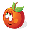 Fun cartoon apple