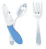 Vector clipart: spoon, knife and fork