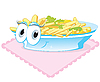 Vector clipart: fried potatoes on plate