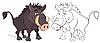 Vector clipart: Wild boar