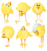 Set of chickens | Stock Vector Graphics