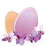 Vector clipart: eggs and cherry blossoms