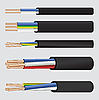 Vector clipart: Electric copper cable