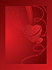 Vector clipart: Valentine's card with heart