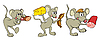 Vector clipart: Fun cartoon mice