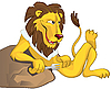 Vector clipart: Hungry lion