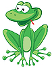 Vector clipart: funny frog