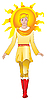 Vector clipart: Sun man
