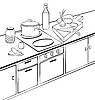 Vector clipart: kitchen