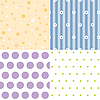 Vector clipart: Four seamless backgrounds