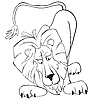 Vector clipart: Surprised lion