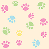 Vector clipart: background with tracks