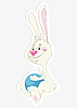 Vector clipart: bunny and ball