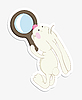 Vector clipart: Rabbit and magnifier