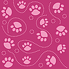 Vector clipart: pink tracks