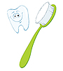 Vector clipart: toothbrush and tooth