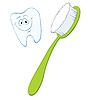 Векторный клипарт: Зубная щетка и зуб