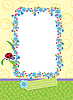 Vector clipart: Flower frame