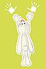 Векторный клипарт: Кролик и его отпечатки лап