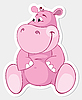 Pink hippopotamus | Stock Vector Graphics