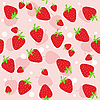 Seamless strawberry background | Stock Vector Graphics