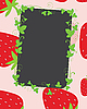 Vector clipart: Strawberries frame