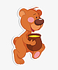 Vector clipart: Bear and Honey
