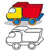 Vector clipart: Children toy car