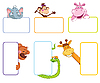 Vector clipart: banner frames with animals