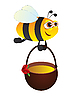 Векторный клипарт: Пчела с медом