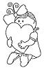 Vector clipart: Girl hugs heart
