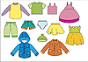 Vector clipart: set of different types of clothing