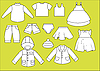Vector clipart: different types of clothing