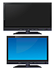 Vector clipart: LCD wide TV