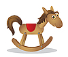 Vector clipart: rocking horse